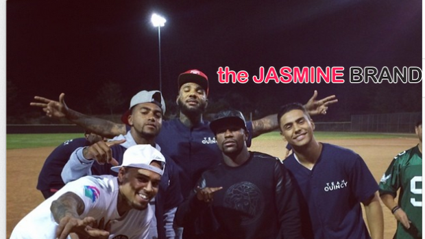 Celebrity Kick Ball Game: Chris Brown, Game, Mayweather, Desean Jackson, Kylie Jenner Kick It For Charity