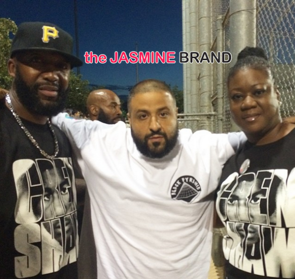 trayvon martins parents khaled chris brown quincy charity kick ball event 2014 the jasmine brand