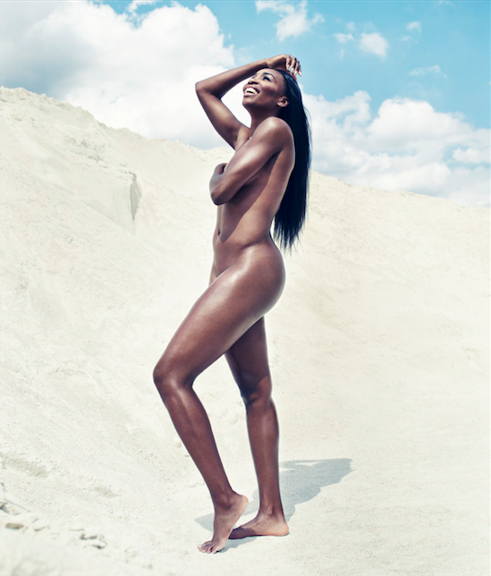 venus williams poses nude for ESPN the Magazine the jasmine brand