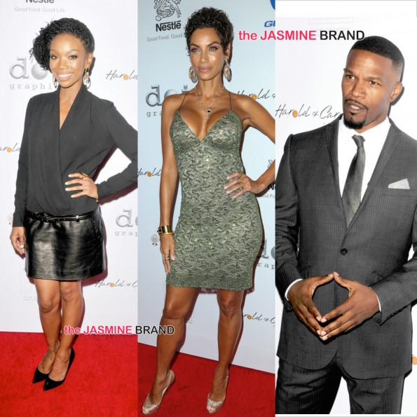14th annual pump foundation awards-brandy jamie foxx nicole murphy the jasmine brand