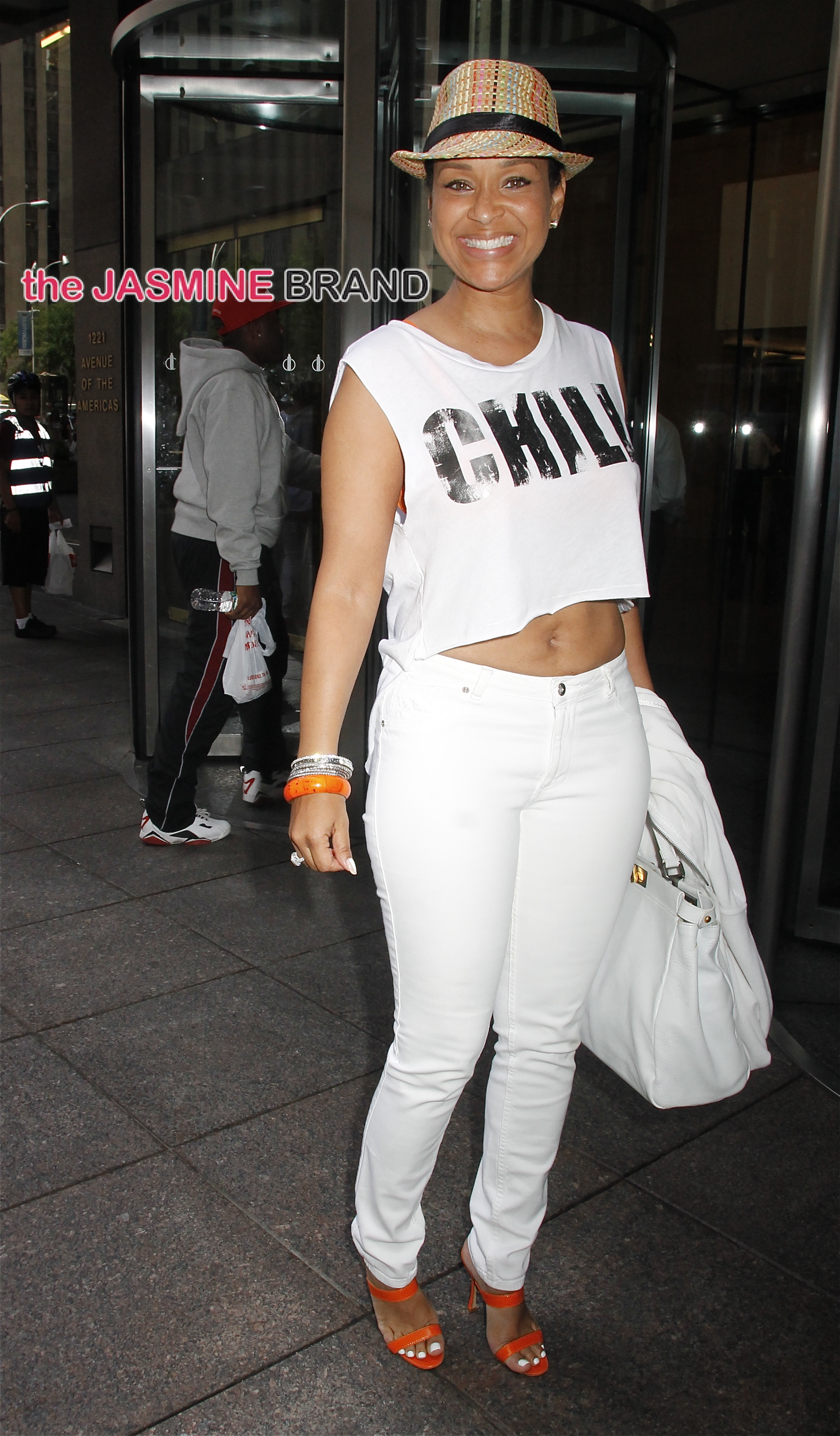 Actress LisaRaye McCoy arrives at Sirius XM studios in NYC