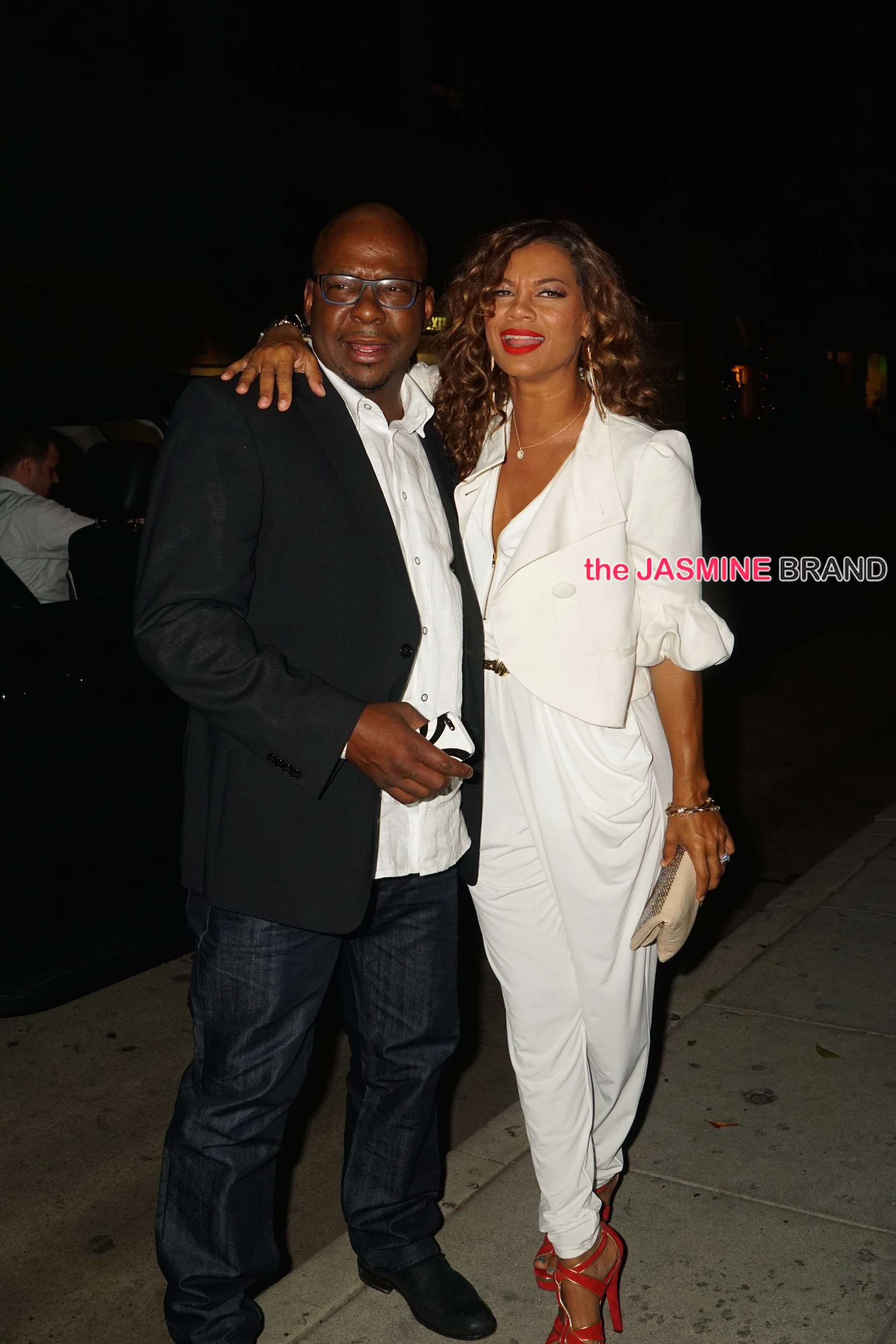 Bobby Brown arrives at Mr Chow with his Beyonce look a like wife