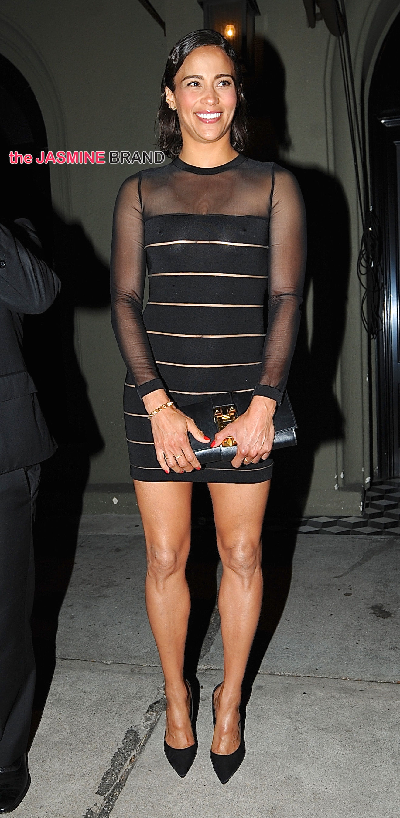 Paula Patton exits Craig's Restaurant in West Hollywood, CA