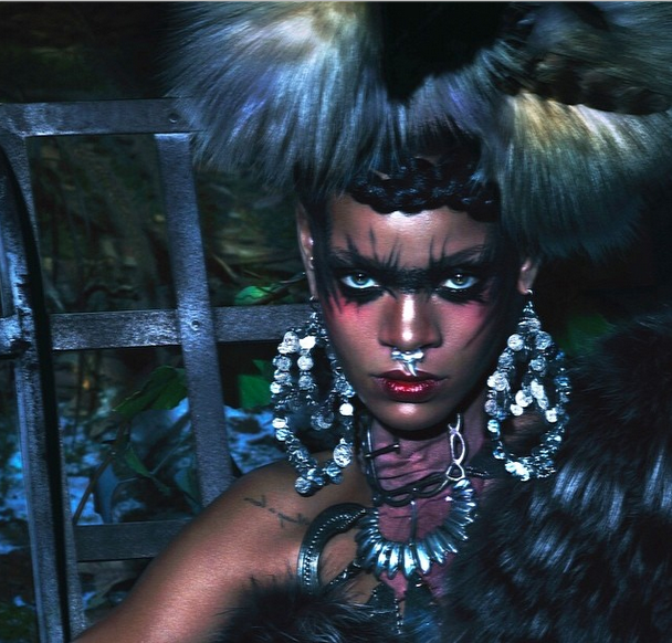 Nose Rings, Tribal Paint & Night Wolves: Rihanna Covers W Magazine