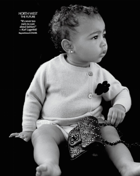 13-Month-Old Baby North West Makes Modeling Debut