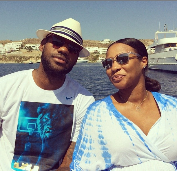 [Ovary Hustlin'] LeBron James & Wife Announce Unborn Child's Name