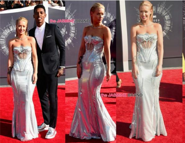 #IggyAzalea (wearing Versace) and boyfriend #NickYoung