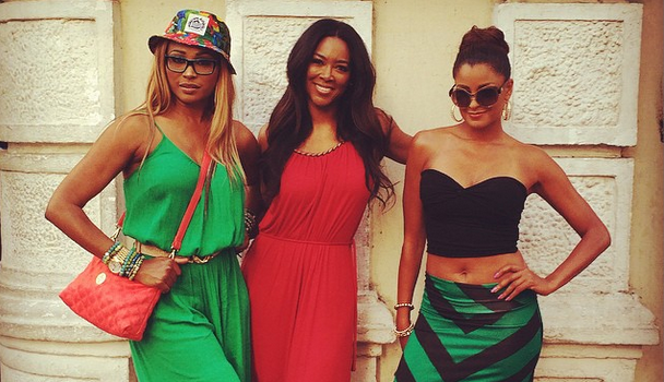 [Photos] New ATL Housewives Claudia Jordan & Demetria McKinney Spotted Filming