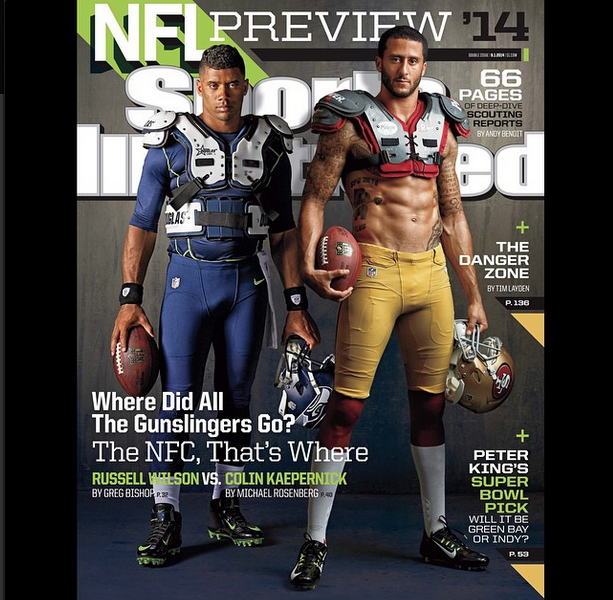 [Stop & Stare] Russell Wilson & Colin Kaepernick Cover Sports Illustrated
