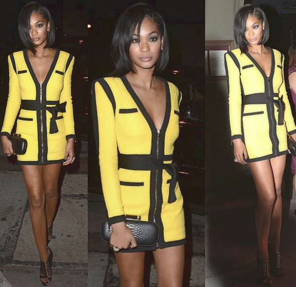 Celebrity Outfits of the Week: Chanel Iman, Beyonce, Tamera Mowry, Joan Smalls, Kim Kardashian & Porsha Williams