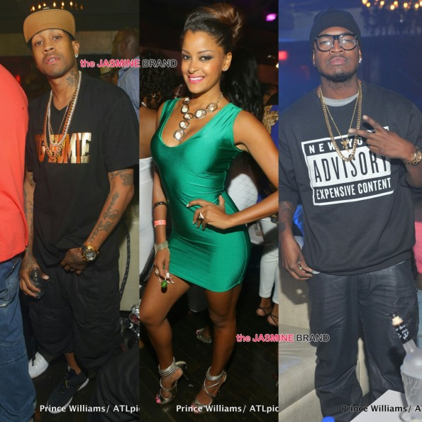allen iverson-claudia jordan-neyo party in atlanta the jasmine brand