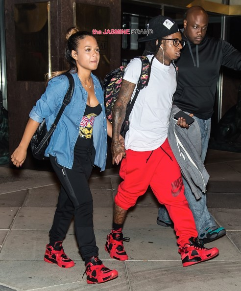 Lil Wayne and Christina Milian take a stroll on the streets of Philadelphia, PA