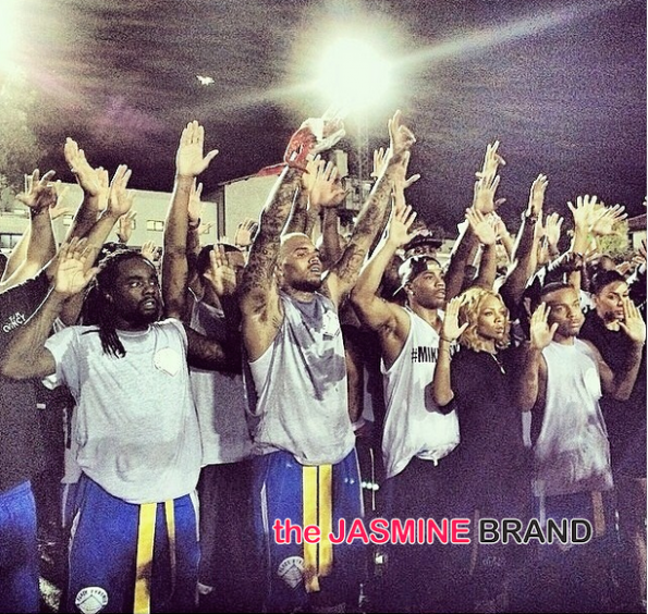 chris brown-quincy-flag football charity game 2014-the jasmine brand