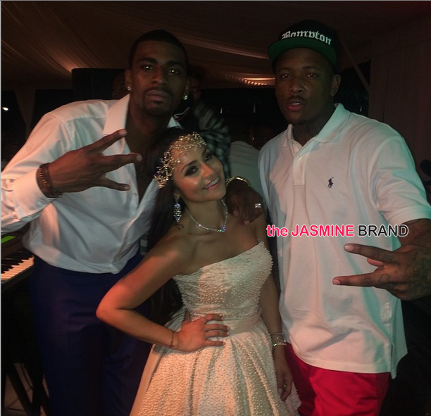 [Photos] NBA Baller Dorell Wright Marries Mia Lee: Rapper YG, Gabrielle Union, Chris Bosh Attend