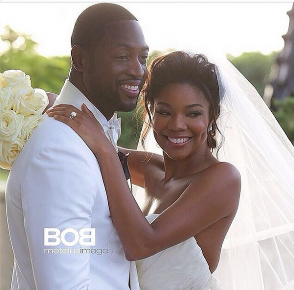 gabrielle union and dwyane wade married-wedding gown 2014-the jasmine brand