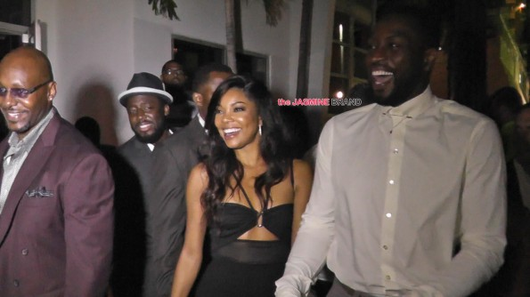 Dwyane Wade and Gabrielle Union dine out on the eve of their wedding in Miami Beach