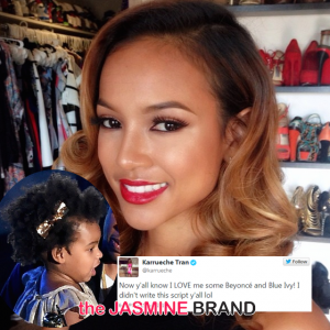 karrueche tran jokes about blue ivy hair 2014-the jasmine brand