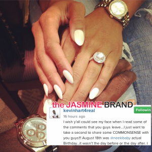 kevin hart defends proposal to enikko parrish-the jasmine brand