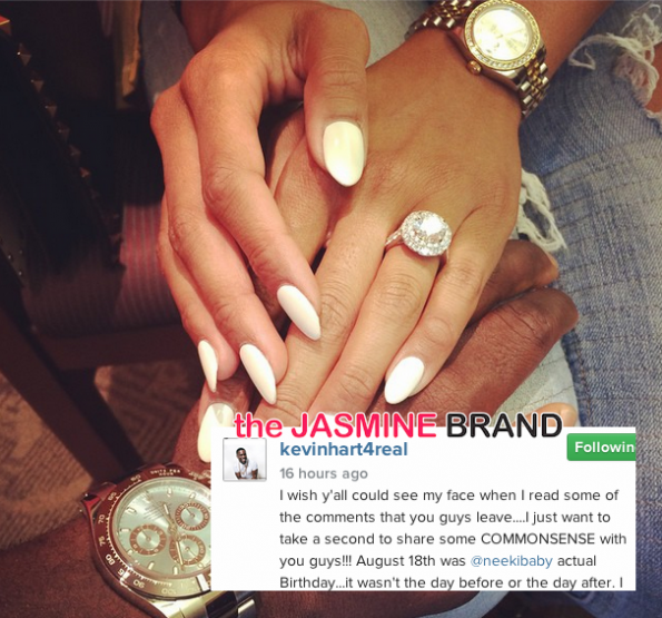 Kevin Hart Defends Proposing To Girlfriend On Same Date As