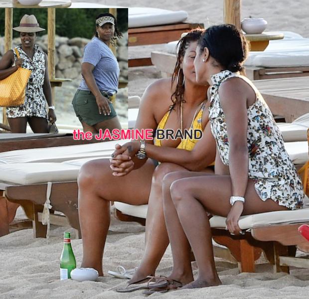 Cup Cakin': Queen Latifah & Rumored Girlfriend Smooch On Tropical Vacay