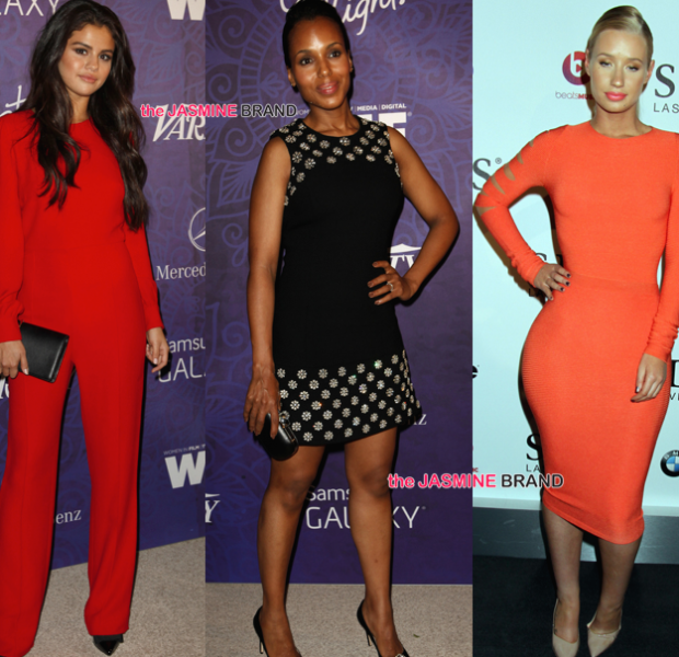 Kerry Washington, Joan Smalls & Selena Gomez Hit Pre-Emmy Party + Rita Ora, Iggy Azalea & Lenny Kravitz Attend SLS Grand Opening