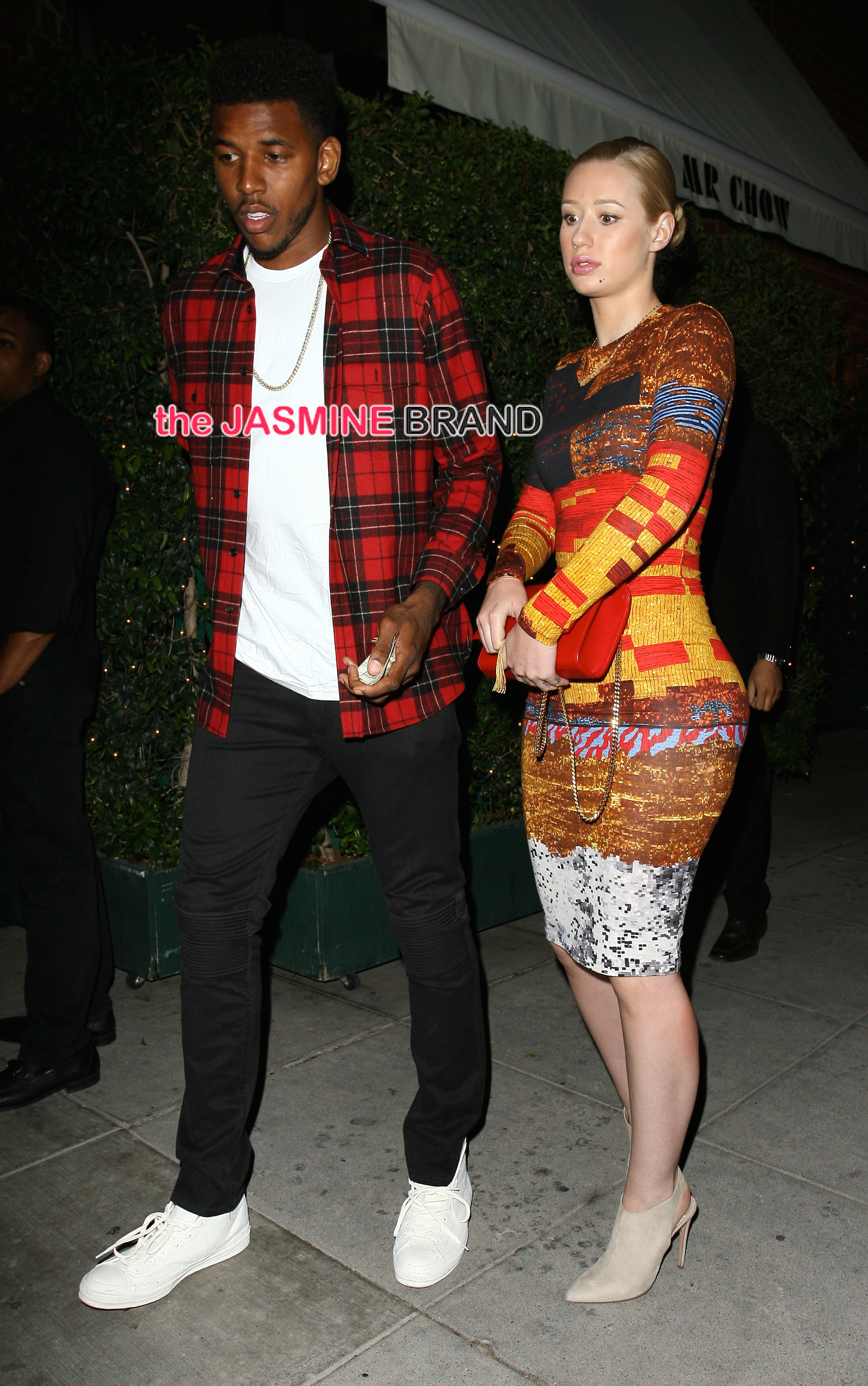 Singer Iggy Azalea dines out with her boyfriend Nick Young at Mr Chow in Beverly Hills, CA