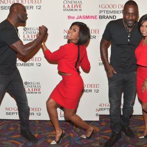 taraji p henson-idris elba-no good deed screening la 2014-the jasmine brand