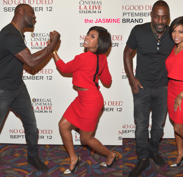 Idris Elba & Taraji P. Henson Host 'No Good Deed' Screening in LA
