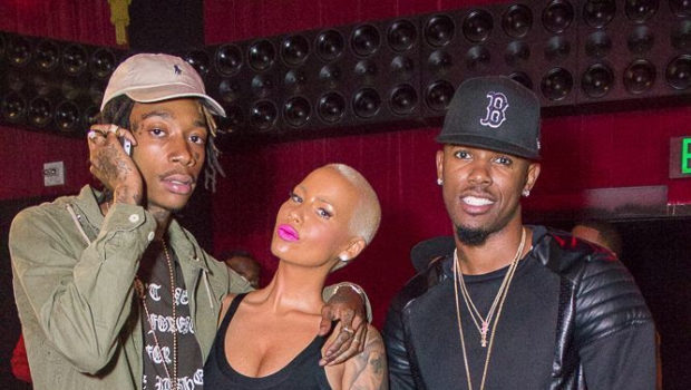 Russell Simmons, Amber Rose, Wiz Khalifa, Torrei Hart & Boyfriend Attend 'All Def Comedy Live'
