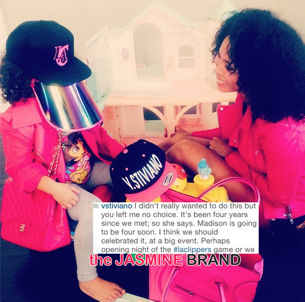 V. Stiviano Announces 4-Year-Old Daughter, Hints Donald Sterling Fathered Their Child