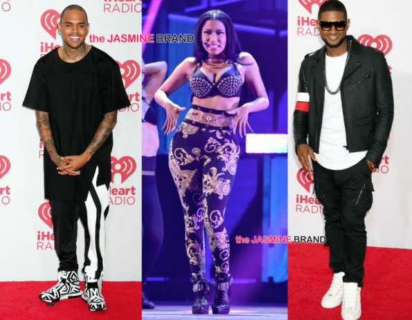 Chris Brown-Nicki Minaj-Usher Raymond-iHeart Radio 2014-the jasmine brand.jpg