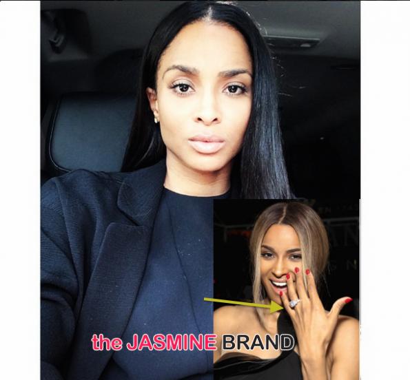 Ciara Returns Engagement Ring-the jasmine brand