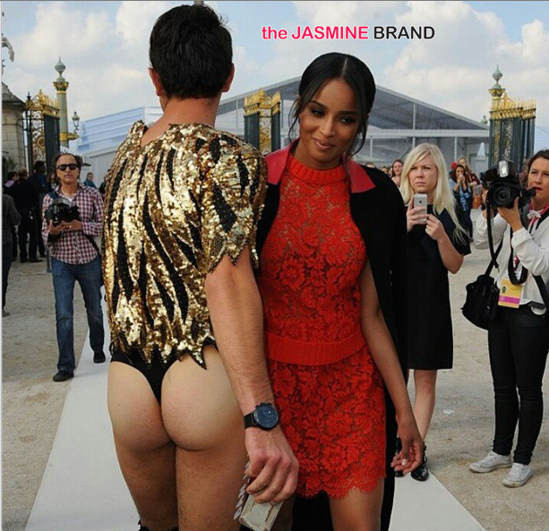 Awkward Much? Ciara Becomes Vitalii Sediuk's Latest Red Carpet Victim … Nice Thong