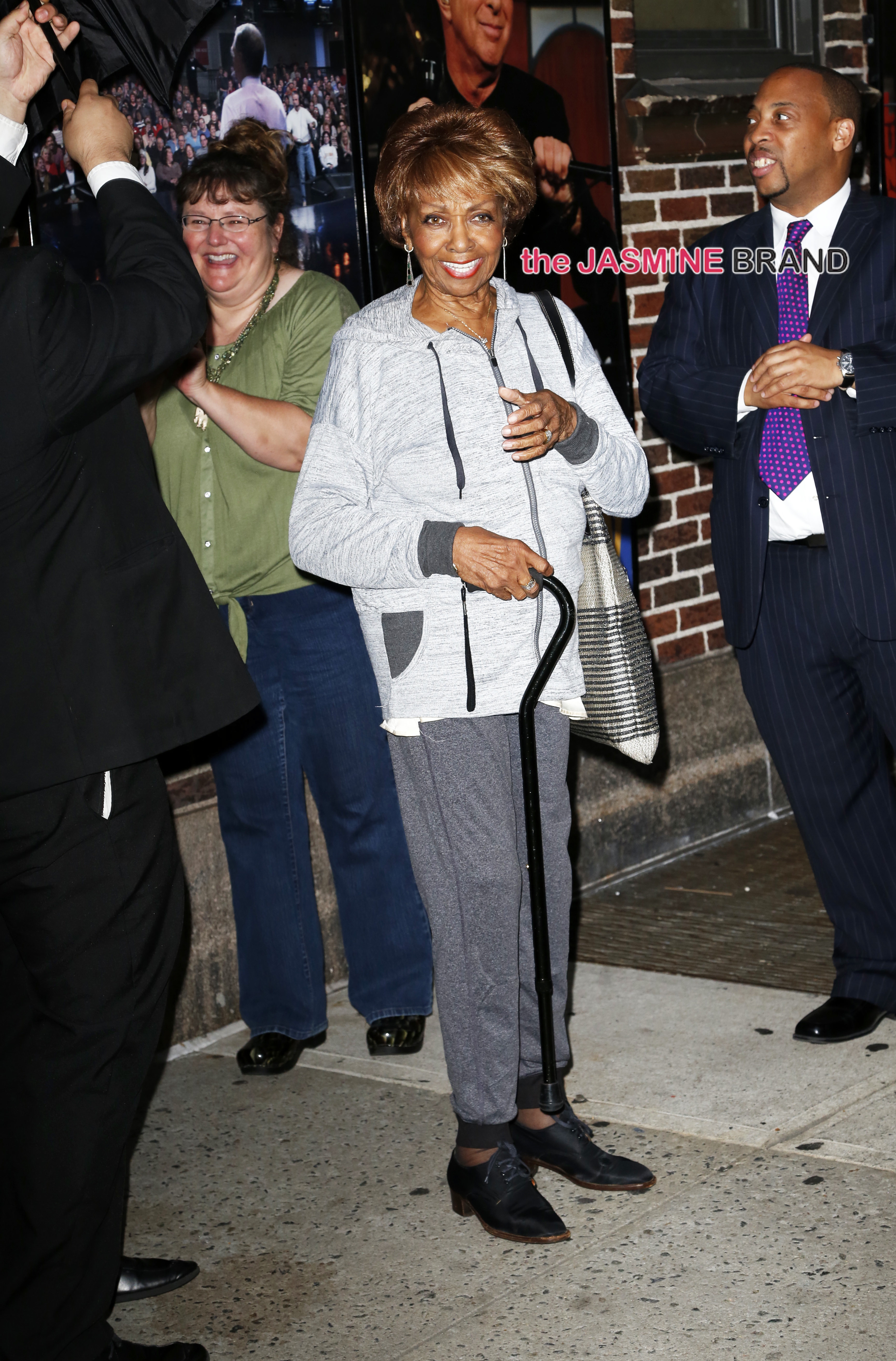 Cissy Houston visits 'The Late Show with David Letterman' in NYC