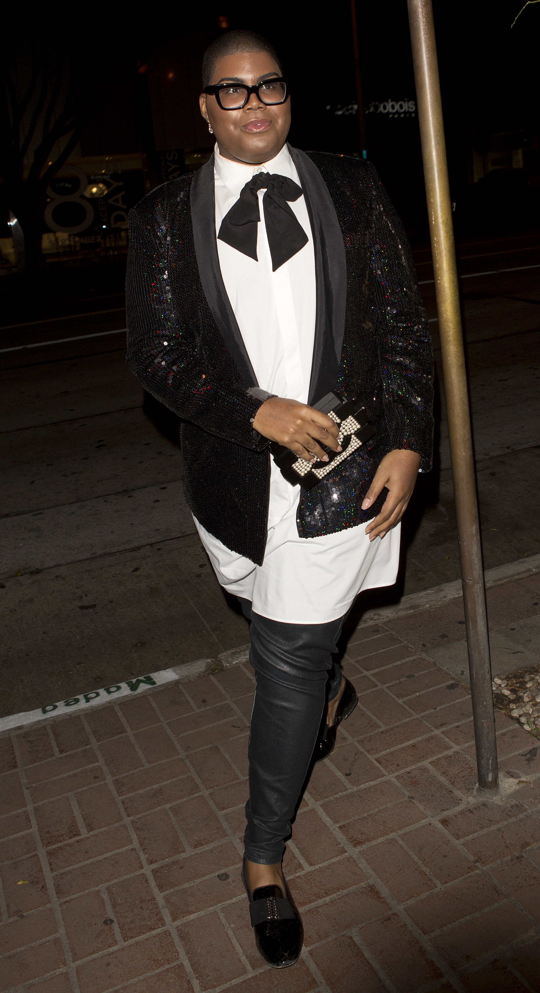 Dorothy Wang, EJ Johnson, Brendan Fitzpatrick and Morgan Stewart from 'The Rich Kids of Beverly Hills' TV show were seen arriving for dinner at Madeo Italian Restaurant in West Hollywood, CA
