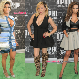 Joseline Hernandez-Tameka Tiny Harris-Erica Mena-BET Hip Hop Awards 2014-the jasmine brand.jpg