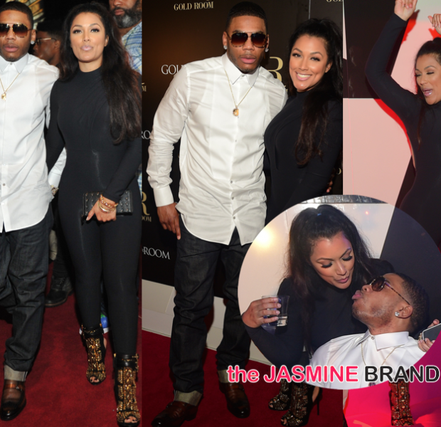 Cup Cakin': Nelly & Girlfriend Shantel Jackson Go Clubbin' + Fabolous, Young Jeezy Spotted
