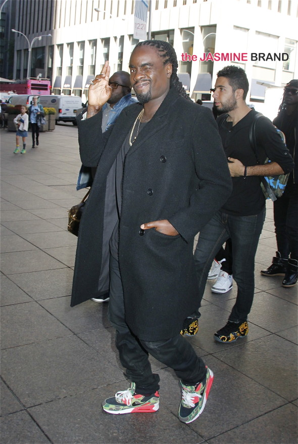 Rapper Wale arrives at Sirius XM studios in NYC