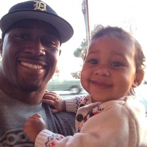 Reggie Bush and daughter