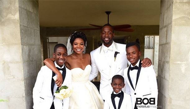 Newlyweds Dwyane Wade & Gabrielle Union Release Official Wedding Photos