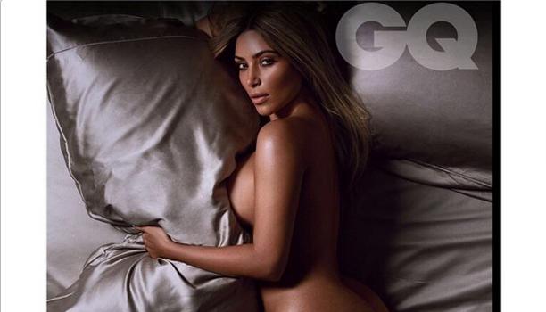 Fashionably Nude! Kim Kardashian Poses In Her Birthday Suit For British GQ Magazine