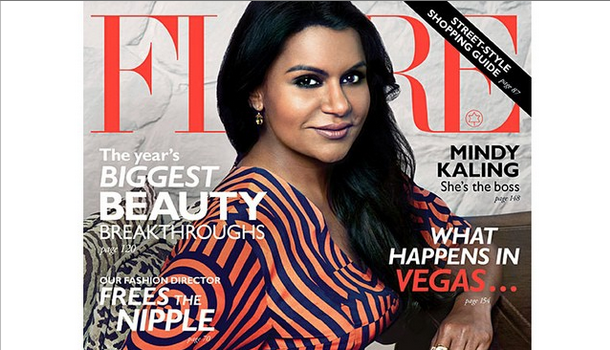 Mindy Kaling Talks Work Ethic, Turning 35 & Family In 'FLARE'