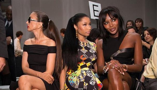Versus Versace Collection Presents At New York Fashion Week + Rihanna, Naomi Campbell & J.Hud Attend