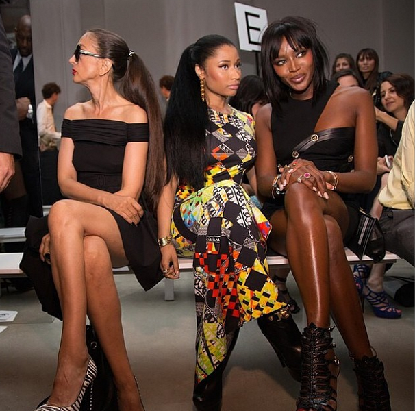Versus Versace Collection Presents At New York Fashion Week + Rihanna, Naomi Campbell & J.Hud Attend