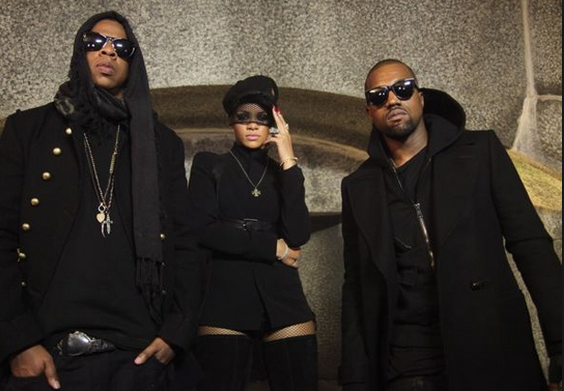 Jay Z, Rihanna & Kanye West in 'Run This Town' video