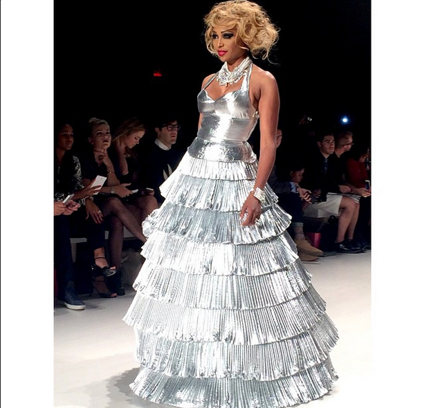 Betsey Johnson Presents at New York Fashion Week + Cynthia Bailey Werks the Runway