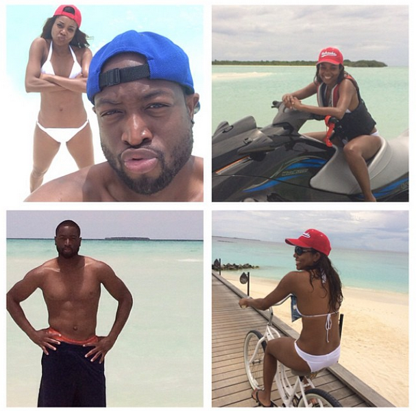 Gabrielle Union & Dwyane Wade's Honeymoon Pix!