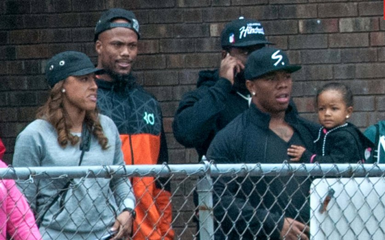 [Photos] Ray Rice & Wife Make 1st Public Appearance Since NFL Suspension