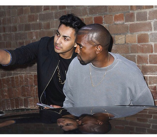 [Photos] Kanye West Debuts Futuristic Haircut