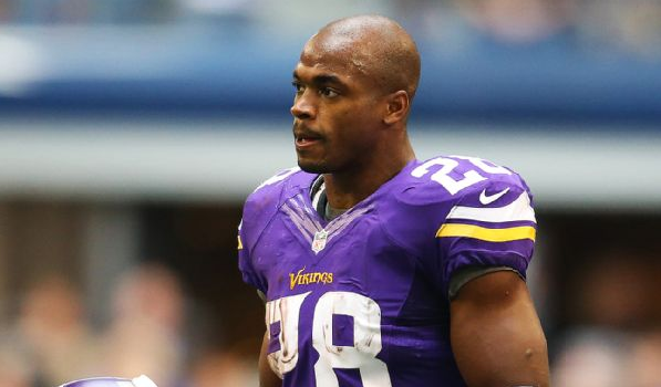 NFL'er Adrian Peterson Barred From Vikings Until Child-Abuse Resolved